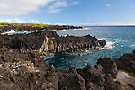 Maui, Hawaii. Waianapanapa State Park in Hana, Maui, HI.  Pictured is the lava bridge painted by Georgia O'Keeffe in 1939
