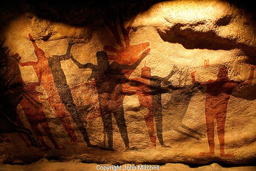 Replica of the Cueva Pintada in the Sierra de San Francisco, Baja California, Mexico. Museo Nacional de Antropologia, Chapultepec Park, Mexico City.