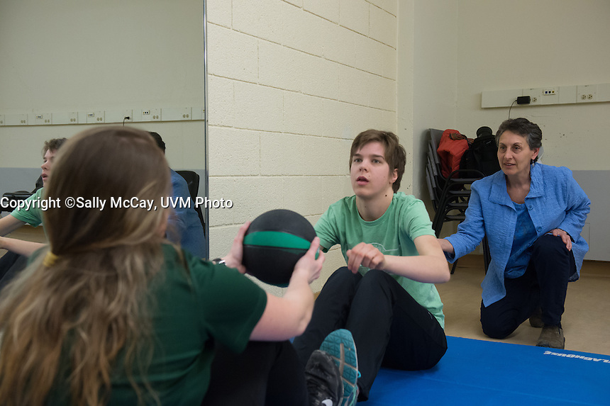 Sussan Kassner and Physical Therapy Students training session with Special Olympics Athletes.<br /> Assigned: Elise Whittemore, UComm.