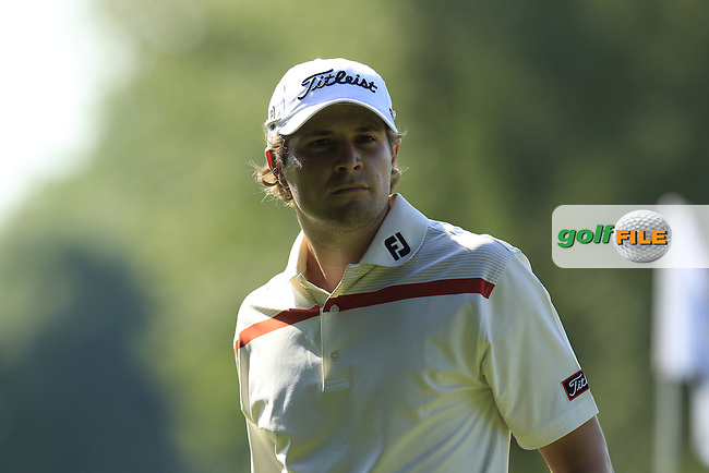 Peter Uihlein (USA) on the 16th green during Thursday's Round 1 of the 2013 BMW International Open held on the Eichenried Golf Club, Munich, Germany. 20th June 2013<br /> (Picture: Eoin Clarke www.golffile.ie)