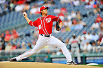 24 September 2011: Washington Nationals pitcher Chien-Ming Wang on the mound against the Atlanta Braves at Nationals Park in Washington, DC. The Nationals defeated the Braves 4-1 to even up their 3-game series. Mandatory Credit: Ed Wolfstein Photo