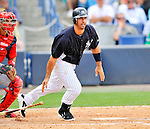 5 March 2011: New York Yankees' designated hitter Jorge Posada in action during a Spring Training game against the Washington Nationals at George M. Steinbrenner Field in Tampa, Florida. The Nationals defeated the Yankees 10-8 in Grapefruit League action. Mandatory Credit: Ed Wolfstein Photo