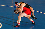 12 MAR 2011:  Aaron Denson of Nebraska-Omaha (in black) wrestles Charlie Pipher of Western State during the Division II Men's Wrestling Championship held at the UNK Health and Sports Center on the University of Nebraska - Kearney campus in Kearney, NE.  Denson defeated Pipher 6-4 to win the 184-lb national title. Corbey R. Dorsey/ NCAA Photos