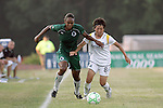 24 June 2009: Kia McNeill (left) of Saint Louis Athletica and Aya Miyama (8) of the Los Angeles Sol battle for a loose ball.  Saint Louis Athletica was defeated by the visiting Los Angeles Sol 1-2 in a regular season Women's Professional Soccer game at AB Soccer Park, in Fenton, MO.