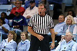 02 January 2015: Referee Mark Hardcastle. The University of North Carolina Tar Heels hosted the East Tennessee State University Buccaneers at Carmichael Arena in Chapel Hill, North Carolina in a 2014-15 NCAA Division I Women's Basketball game. UNC won the game 95-62.