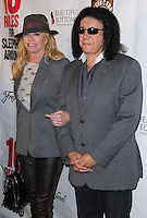 """HOLLYWOOD, LOS ANGELES, CA, USA - APRIL 01: Shannon Tweed, Gene Simmons at the Los Angeles Premiere Of Screen Media Films' """"10 Rules For Sleeping Around"""" held at the Egyptian Theatre on April 1, 2014 in Hollywood, Los Angeles, California, United States. (Photo by Xavier Collin/Celebrity Monitor)"""