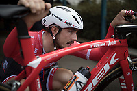 John Degenkolb (DEU/Trek-Segafredo) checking all the details one last time before race-day<br /> <br /> preparing for the 108th Milano - Sanremo 2017<br /> (day before the race)