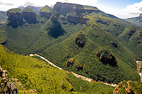 The Blyde River Canyon in South Africa forms the northern part of the Drakensberg escarpment.