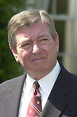 United States Attorney General John Ashcroft meets reporters at the White House following the Rose Garden event where President Bush named John P. Walters as Drug Czar on May 10, 2001..Credit: Ron Sachs / CNP