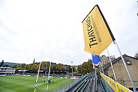 A general view of the Thatchers stand of the Recreation Ground. Aviva Premiership match, between Bath Rugby and Exeter Chiefs on October 17, 2015 at the Recreation Ground in Bath, England. Photo by: Patrick Khachfe / Onside Images