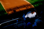 A fan hikes the upper deck to his seat during the New York Yankees vs Toronto Blue Jay's match-up at Yankee Stadium in New York, Sunday, Oct. 01, 2006.