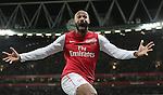 Arsenal's Thierry Henry celebrates scoring the opening goal to Arsenal 1:0 lead over Leeds United.Arsenal 09/01/12.Arsenal V Leeds United 09/01/12.The FA Cup Third Round.Photo: Richard Washbrooke Fotosports International.