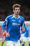 Aberdeen v St Johnstone... 23.07.11   SPL Week 1.Cillian Sheridan making his debut for St Johnstone a second time.Picture by Graeme Hart..Copyright Perthshire Picture Agency.Tel: 01738 623350  Mobile: 07990 594431