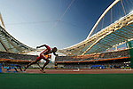 Yacnier Luis, heats for the Men 400 hurdles, Olympic Games, Athens, Greece, August 23, 2004