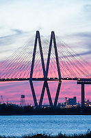Love the architecture of the bridge especially since we got these really nice sunset colors. We noticed several rainbows as we drove over here even though it had not rained from the battleship of Texas and I believe it get these colors because of all the chemicals in the air.  Polluted air gives nice sunset so there we go.