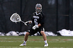 01 March 2015: Providence's Peter Badgley. The Duke University Blue Devils hosted the Providence College Friars on the West Turf Field at the Duke Athletic Field Complex in Durham, North Carolina in a 2015 NCAA Division I Men's Lacrosse match. Duke won the game 20-8.