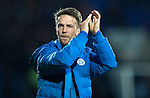 St Johnstone v Rangers&hellip;28.12.16     McDiarmid Park    SPFL<br />Chris Millar applauds the fans at full time<br />Picture by Graeme Hart.<br />Copyright Perthshire Picture Agency<br />Tel: 01738 623350  Mobile: 07990 594431