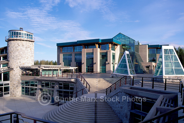 Prince George, BC, British Columbia, Canada - University of Northern British Columbia (UNBC), Cafeteria and Administration Buildings