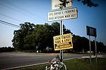 June 27, 2009. Kernersville, NC..A roadside memorial to Spc. David E. Perkins.