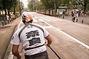 A rickshaw puller in Nara.