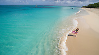 Young woman enjoying a day on the beach<br />