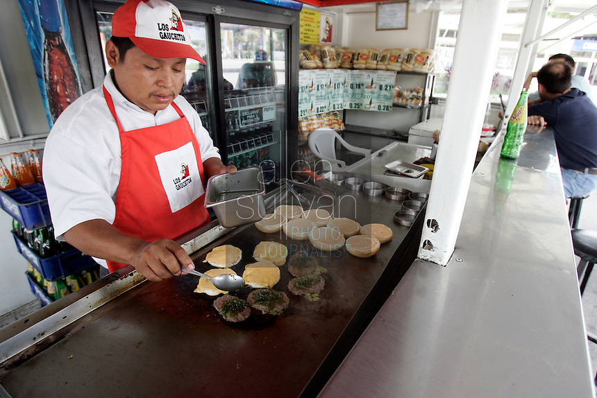 Los Gauchitos, a roadside burger stand, in Escuintla, Guatemala.