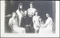 BNPS.co.uk (01202 558833)<br /> Pic: HAldridge/BNPS<br /> <br /> The Russian Imperial family in 1904.<br /> <br /> Poignant photographs of the last Russian royal family visiting their British relatives - the King and Queen of Britain - have come to light.<br /> <br /> The black and white images show Tsar Nicholas II, his wife Alexander and their children at Osborne House on the Isle of Wight in 1909 with Edward VII and his wife, Mary of Teck.<br /> <br /> The images show just how close the two Royal families were. <br /> <br /> The album of up to 100 photo postcards is being sold for &pound;1,500 by Henry Aldridge and Son.