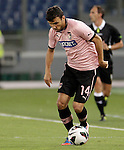Calcio, Serie A: Lazio vs Palermo. Roma, stadio Olimpico, 2 settembre 2012..Palermo midfielder Nicolas Bertolo, of Argentina, in action during the Italian Serie A football match between Lazio and Palermo at Rome's Olympic stadium, 2 September 2012..UPDATE IMAGES PRESS/Riccardo De Luca