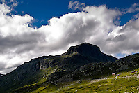The mountaintop Bitihorn at the edge of the area Jotunheimen, Oppland, Norway.