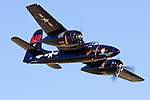Mike Brown's F7F Tigercat, Big Bossman-Race 1, races through the Valley of Speed during the 2006 Reno National Championship Air Races. Brown piloted Big Bossman to a sixth place finish with a speed of 362.388  mph around the 50.33 mile course in the Unlimited Silver Championship race. Photographed 09/06