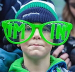 Seattle Seahawks  fan Dylan Schafer wears I'm In glasses in the game against the St. Louis Rams at CenturyLink Field in Seattle, Washington on December 29, 2013.  Seahawks clinched the NFC West title and home-field advantage throughout the playoffs with a 27-9 victory over the St. Louis Rams.    ©2013. Jim Bryant Photo. ALL RIGHTS RESERVED.