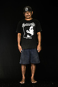 55 year old Tuna fisherman, Ramon Duran poses for a portrait at the Casa, the Tuna buying house in Puerto Princesa, Palawan in the Philippines. <br /> Photo: Sanjit Das/Panos for Greenpeace