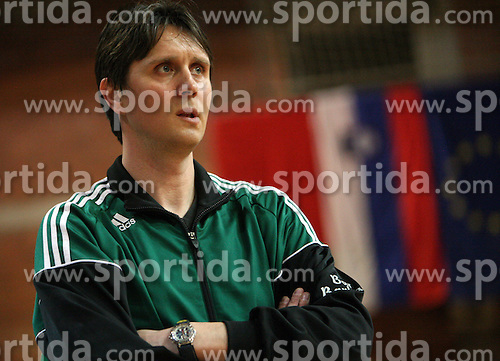 Coach of Rudar Trbovlje Jani Cop at handball game RK Slovan vs RK Rudar EVJ Trbovlje in 20th round of Slovenian handball championship, on February 29, 2008 in Ljubljana, Slovenia. Win of Slovan 27:26. (Photo by Vid Ponikvar / Sportal Images)