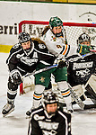 13 November 2015: University of Vermont Catamount Forward Dayna Colang, a Senior from Fairbanks, Alaska, in action against the Providence College Friars at Gutterson Fieldhouse in Burlington, Vermont. The Lady Friars defeated the Lady Cats 4-1 in Hockey East play. Mandatory Credit: Ed Wolfstein Photo *** RAW (NEF) Image File Available ***