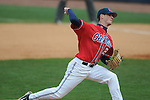 Ole Miss' Mike Mayers (28) pitches at Oxford-University Stadium in Oxford, Miss. on Sunday, March 6, 2010. Tulane won 3-1.