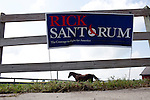 A farm where Republican presidential hopeful Rick Santorum held a campaign stop on Saturday, August 6, 2011 in Roland, IA.