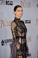 Angela Sarafyan at the premiere for &quot;The Promise&quot; at the TCL Chinese Theatre, Hollywood. Los Angeles, USA 12 April  2017<br /> Picture: Paul Smith/Featureflash/SilverHub 0208 004 5359 sales@silverhubmedia.com
