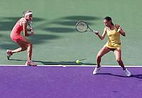 Gisela DULKO (ARG) and Flavia PENNETTA (ITA) against Sam STOSUR (AUS) and Nadia PETROVA (RUS) in the finals of the women's doubles. Gisela Dulko & Flavia Pennetta beat Nadia Petrova & Sam Stosur 4-6 (10-7)..International Tennis - 2010 ATP World Tour - Sony Ericsson Open - Crandon Park Tennis Center - Key Biscayne - Miami - Florida - USA - Sun 4 Apr 2010..© Frey - Amn Images, Level 1, Barry House, 20-22 Worple Road, London, SW19 4DH, UK .Tel - +44 20 8947 0100.Fax -+44 20 8947 0117