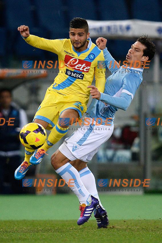 Lorenzo Insigne Napoli, Hernanes Lazio - Roma 02-12-2013 Stadio Olimpico - Football Calcio Serie A 2013/2014 Lazio - Napoli Foto Andrea Staccioli / Insidefoto