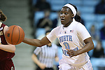 01 February 2015: North Carolina's Jamie Cherry. The University of North Carolina Tar Heels hosted the Boston College Eagles at Carmichael Arena in Chapel Hill, North Carolina in a 2014-15 NCAA Division I Women's Basketball game. UNC won the game 72-60.