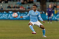 Melbourne, 21 July 2015 - Raheem Sterling of Manchester City controls the ball in game two of the International Champions Cup match at the Melbourne Cricket Ground, Australia. City def Roma 5-4 in Penalties. (Photo Sydney Low / AsteriskImages.com)