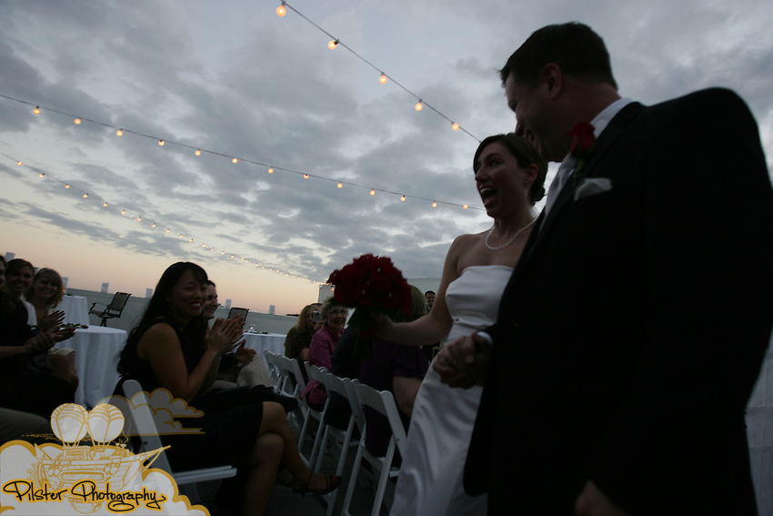 The wedding of Tressa King to Kurt Oestreicher on Saturday, November 8, 2008, at the Wall Street Lofts rooftop in Daytona Beach. (Chad Pilster, PilsterPhotography.Net)