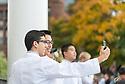Kiyon Naser-Tavakolian, left, Billy Tran. Class of 2017 White Coat Ceremony.