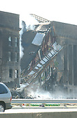Washington, D.C - September 11, 2001 -- Damage to the Pentagon in Washington, D.C. several hours following the terrorist attack on Tuesday, September 11, 2001..Credit: Ron Sachs / CNP