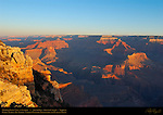 Osiris Temple, Isis Temple, Cheops Pyramid, Battleship and Plateau Point, Mather Point View at Sunrise, South Rim, Grand Canyon, Arizona