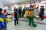 Japanese Yuru chara mascots at a culture promotion event