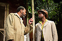 FENCES, by August Wilson, opens at the Duchess Theatre, in London's West End, following a successful run at Theatre Royal Bath. Lenny Henry takes on the lead role of Troy Maxson in, this production, which is directed by Paulette Randall. Picture shows: Lenny Henry (Troy Maxson) and Peter Bankole (Lyons).