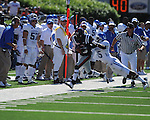Ole Miss wide receiver Jesse Grandy (10) is run out of bounds by Kentucky's Martavius Neloms (15)  at Vaught-Hemingway Stadium in Oxford, Miss. on Saturday, October 2, 2010. Ole Miss won 42-35 to improve to 3-2..