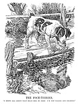 """The Foch-Terrier. """"I know all about that silly dog in Aesop. I'm not taking any chances."""""""