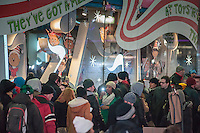 """Thousands upon thousands of tourists pack Times Square in New York on Sunday, December 30, 2012, the night before New Year's Eve. Temperatures for the celebration are expected to drop below freezing but remain dry with over a million people packing the """"Crossroads of the World"""" celebrating the incoming 2013. (© Richard B. Levine)"""